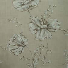 Summer's Night Linen Beige Floral Queen Duvet Cover Reversible