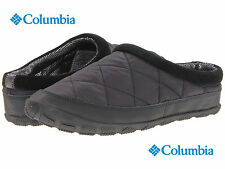 NWB Columbia Packed Out Omni-Heat Cozy Slippers Comfy Home Thermal Shoes Black