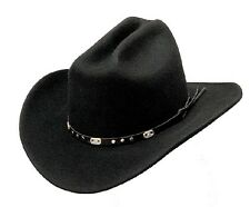 Western Express Crushable Cattleman Cowboy Hat Black Wool Rodeo - S ,M ,L , XL