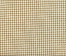 French Country Gingham Check Linen Beige 100% Cotton Bradford Valance Lined