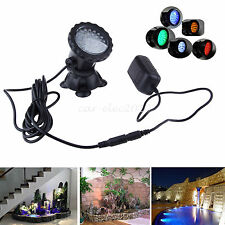 36 LED Colorful Spot Light Submersible Garden Fish Pond Fountain Pool Underwater