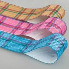 Neotrims Tartan Check Petersham Grosgrain Ribbon By the Yard, 3 Widths & Colours