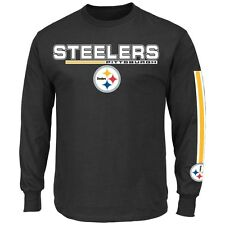 Pittsburgh Steelers Majestic Primary Receiver V Long Sleeve Men's T-Shirt