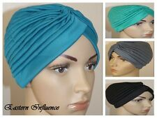 NEW TURBAN HIJAB HEAD WRAP HAIR COVER BONNET CHEMO BONE SLIP ON CAP HAT