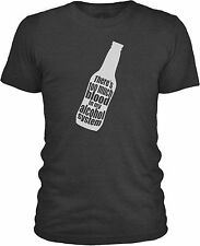 Too Much Blood in My Alcohol System (White) Mens Mixed Cotton T-Shirt
