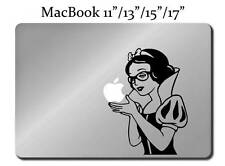 SNOW WHITE WITH GLASSES Decal LAPTOP MACBOOK Mac Pro Air Sticker Apple Geek M54