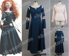 Disney Exclusive Brave Princess Merida Dress Cosplay Costume Dress Gown Outfit