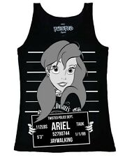 Twisted Disney Ariel the Little Mermaid Mug Shot Punk Tattoo Singlet Tank Top