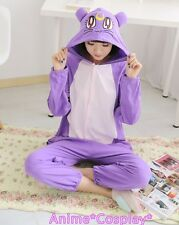 Sailor Moon Purple Cat Diana Onesies Pajamas Kigurumi Costume Cosplay Cute Style