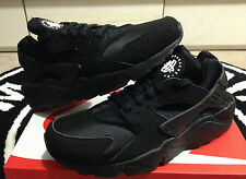 "NIKE AIR HUARACHE LE ""TRIPLE BLACK"" WHITE SZ 8-13 318429-003 Limited Hyper Grey"