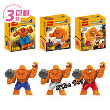 3 PCs Brand New Fantastic Four Comic The Thing MiniFigure Fit with LEGO Toy A22