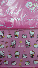 Nail art, Hello Kitty nail stickers cute and with glitter.FREE P&P.  UK SELLER
