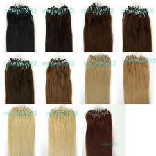 "New 18""20""22""100s Loop/Micro Ring Beads Remy Human Hair Extensions More Color UK"