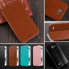 Luxury Slim Flip PU Wallet Stand Leather Case Skin Cover For Huawei Ascend G730