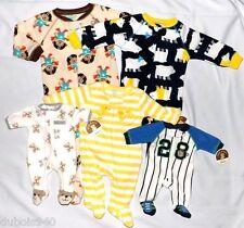 NWT Boys sz Preemie,0-3,3-6,6-9,12,18 Mo,3T Carter's 1 Pc Footy/Shoe Pajamas! :)