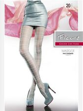 Fiore MARGOT 20D Checkered Patterned Summer Tights Manufactured Europe Hosiery