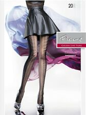 Fiore BASANTI 20D Two Tone Piano Patterned Summer Tights from Europe Hosiery