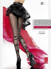 Fiore Hanna 20D Ribbon Patterned Sexy Summer Tights by Europe Hosiery Pantyhose