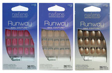 Nailene Runway Nail Couture With Glue, Buffer, Manicure Stick 36 Nail Ongles