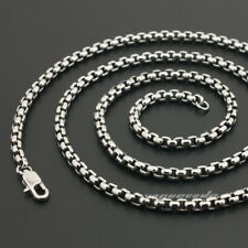 "16"" ~ 36"" Cool 316L Stainless Steel Mens Box Necklace Chain 5N001 Diameter 3.5mm"