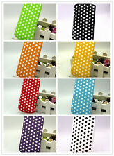 LEATHER POLKA DOT PULL TAB CASE COVER *only* fits Sony Xperia U,Sony Xperia Tipo