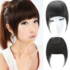 Clip in Hair Bangs Side Fringe Straight 100% Virgin Remy Human Hair Extensions