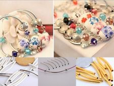 100Pcs Curved Tube Noodle Metal Beads 10 Choose Size and Color