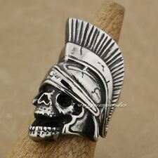 316L Stainless Steel Huge & Heavy Indian Chief Skull Mens Biker Ring AE02D