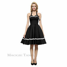 Maggie Tang 50s 60s Pinup VTG Nautical Sailor Rockabilly Swing Party Dress K-515
