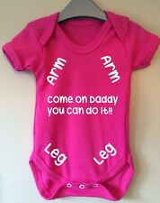 COME ON DADDY YOU CAN DO IT FUNNY BABY BODY VEST GIRL BOY GIFT IDEA FUNNY