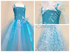 Elsa dress (Frozen inspired) tutu dress costume (handmade). Princess fancy dress
