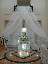 "2 Wedding or home decor Sheer Drape 12' long x 56"" wide  White, Ivory or black"