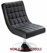 DESIGNER SWIVEL LOUNGE CHAIR AVAILABLE IN BLACK RED & WHITE