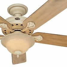 """Hunter 52"""" Ceiling Fan Casual Large Room Wheat Finish - Optional Remote Control"""