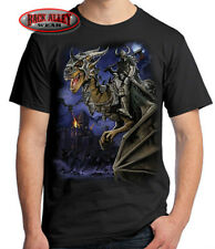 DRAGON MASTER T-SHIRT Tee ~ Fantasy ~ Flames Barbarian Castle Wars Dragons