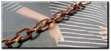 Ladies Solid Copper Link Bracelet 680G -1/4 inch wide - 6 1/2 to 9 inch lengths