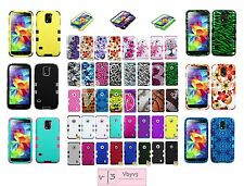 Heavy Duty Hybrid Defender Silicone Skin Case Cover for Samsung i9600 GALAXY S5