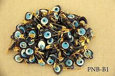 Baby Child Evil Eye Charm,Christening Safety Pin,Bomboniere Party Favour 100 pcs