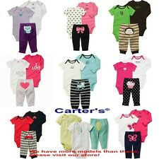 Wholesale 10set/lot Carter's Baby Boys and Girls Clothing Set Rompers Bodysuits