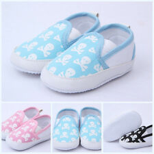 Skull Printed Newborn Shoes Kids Baby Girls Toddlers Soft Sole Anti-slip Shoes