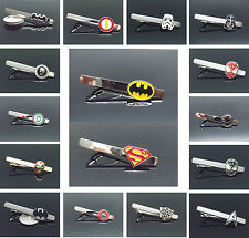 New Superman Batman Iron Man SUPERHERO JUSTICE LEAGUE CUFFLINKS TIE CLIP CLASP