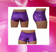 Pole Dancing / Yoga / Cross Fit / Dance Shorts - Purple Sparkle