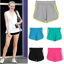 Women's Cotton Sports Solid Shorts Casual Slim Mini Beach Climbing Running Pants