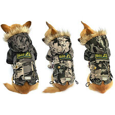 New Camouflage Pet Cat Dog Soft Padded Coat Jacket Small Dog Clothes XS S M L XL
