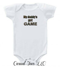 My Daddy's Got Game Funny Baby Bodysuit for the Baby or Toddler Tee