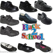 NEW BOYS CHILDRENS BACK TO SCHOOL INFANT KIDS GIRLS VELCRO TRAINERS SHOES SIZE