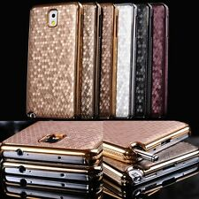 Luxury Leather Chrome Hard Back Case Cover For Samsung Galaxy Note 3 III N9000