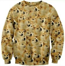 Popular Doge Wow Such Face Much Meme KABOSU DOG Reddit Long Sleeve TOPS SHIRT