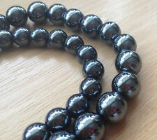 54x8mm & 42x10mm Non-Magnetic Round Hematite Beads 1.5mm-2mm Hole