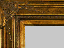 """PICTURE FRAME WOOD ORNATE GOLD FANCY WEDDING PHOTO ART CANVAS 4"""" WIDE"""